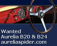 Wanted: Lancia Aurelia B24 spider and B20